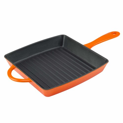 Zelancio 10'' Cast Iron Grill Pan