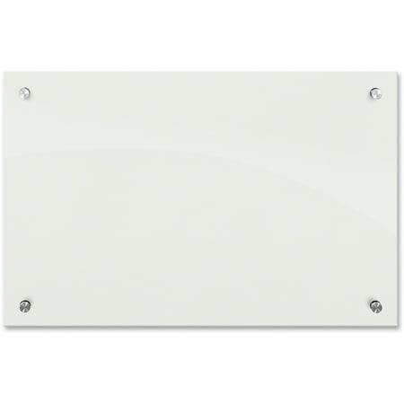 Best-Rite Enlighten Glass Board, Frameless, Frosted Pearl, 36