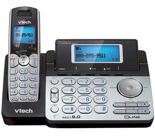 VTech DS6151 Expandable Cordless Phone w  Dual Speaker Phone (Base & Handset) by VTech