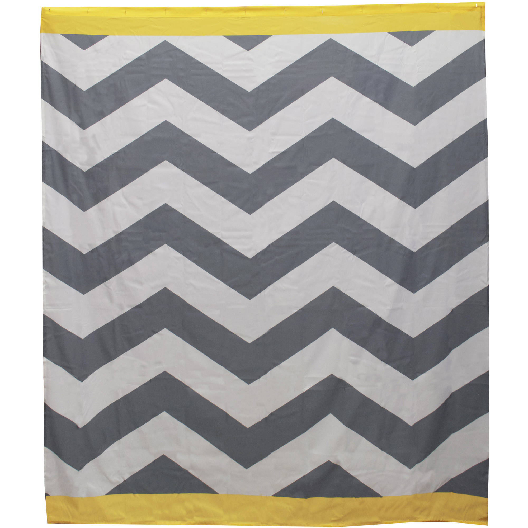 Mainstays Yellow Chevron Shower Curtain, 1 Each