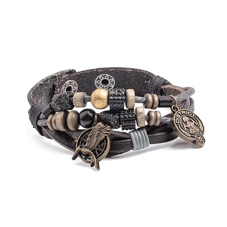 Hunger Games Catching Fire District 12 Snap Bracelet ()