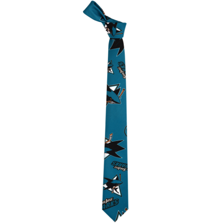 San Jose Sharks NHL Ugly Tie Repeat Logo by Forever Collectibles