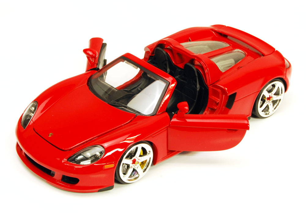 Porsche Carrera GT Convertible, Red Jada Toys Bigtime Kustoms 91994 1 24 scale Diecast... by Jada