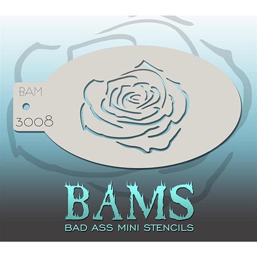 Bad Ass Rose Outline Mini Stencil BAM3008
