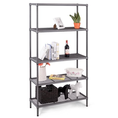 Mesh Shelf - Gymax 72'' 5 Tier Storage Shelf Rack Steel Mesh Organization Home Kitchen Heavy Duty