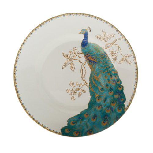 222 Fifth Peacock Garden 16 Piece Dinnerware Set, Service for 4 by Overstock