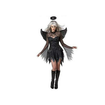 California Costume Collections Fallen Angel Costume 01141CAL Black](Fallen Angel Makeup Ideas)