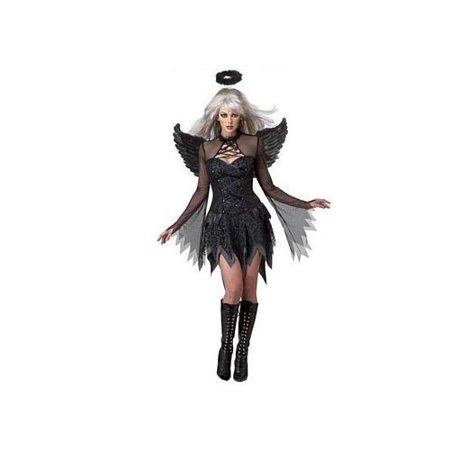 California Costume Collections Fallen Angel Costume 01141CAL - Black Angel Halloween Eye Makeup