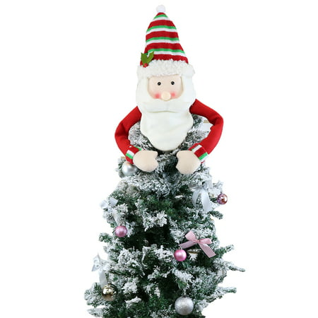 Peroptimist Christmas Tree Topper, Large Top Hat Snowman Tree Topper Outdoor Indoor Novelty Christmas Decorations Xmas Holiday Winter Wonderland Party Home Decor ()