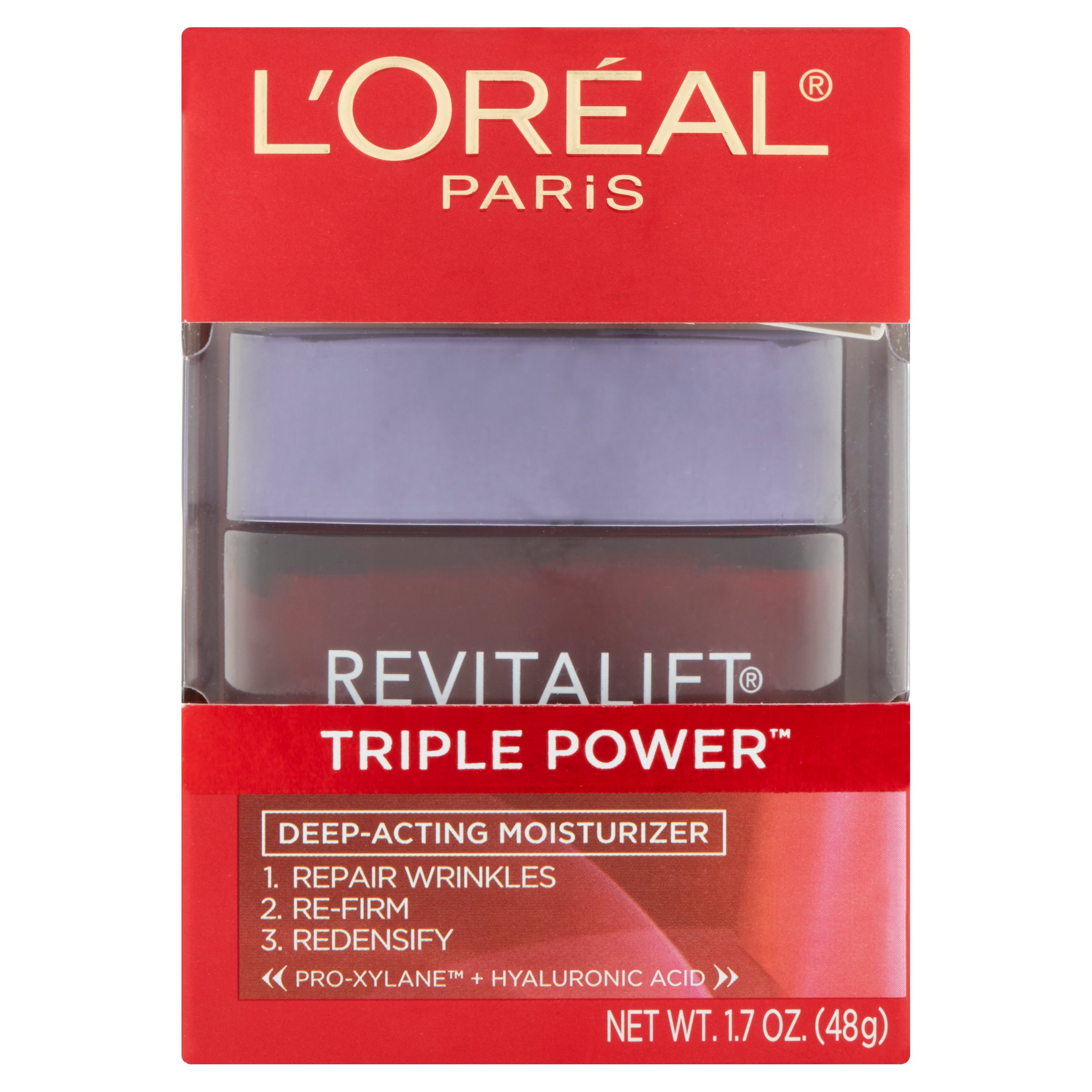 L'Oréal Paris Revitalift Triple Power Deep-Acting Moisturizer, 1.7 oz - Walmart.com