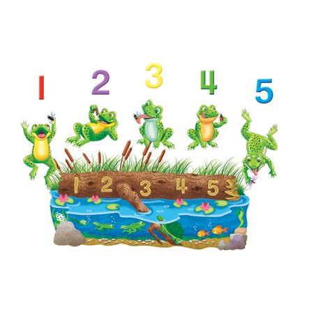 Little Folks Visuals 5 Speckled Frogs Bulletin Board Cut Out