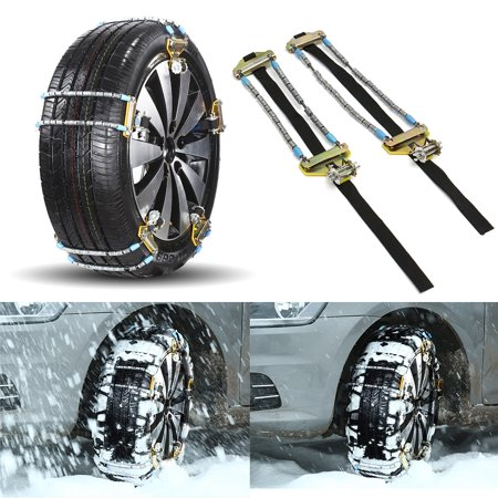 1PC Car Anti-slip Durable Manganese Alloy Steel Car Tire Chain Snowy Anti-skid Chain Winter Snow Muddy Ice Road Skid Emergency For 145-315mm S