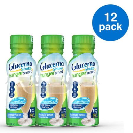 Glucerna Hunger Smart Diabetes Nutritional Shake Homemade Vanilla , To Help Manage Blood Sugar 10 fl oz Bottles (Pack of 12)](Homemade Halloween Drinks)