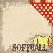 Fastpitch Double-Sided Cardstock 12 Inch X 12 Inch-Play With Heart