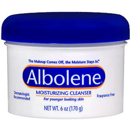 Albolene Cleansing Concentrate Moisturizing Cleanser Cream, Unscented - 6 oz