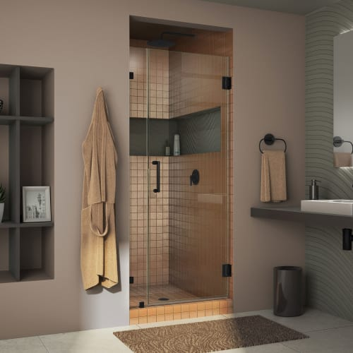 "DreamLine SHDR-23337210 Unidoor Lux 72"" High x 33"" Wide Hinged Frameless Shower"