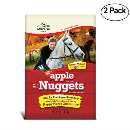 Manna Pro Apple Bite Size Nuggets, 4 Lb - Pack Of