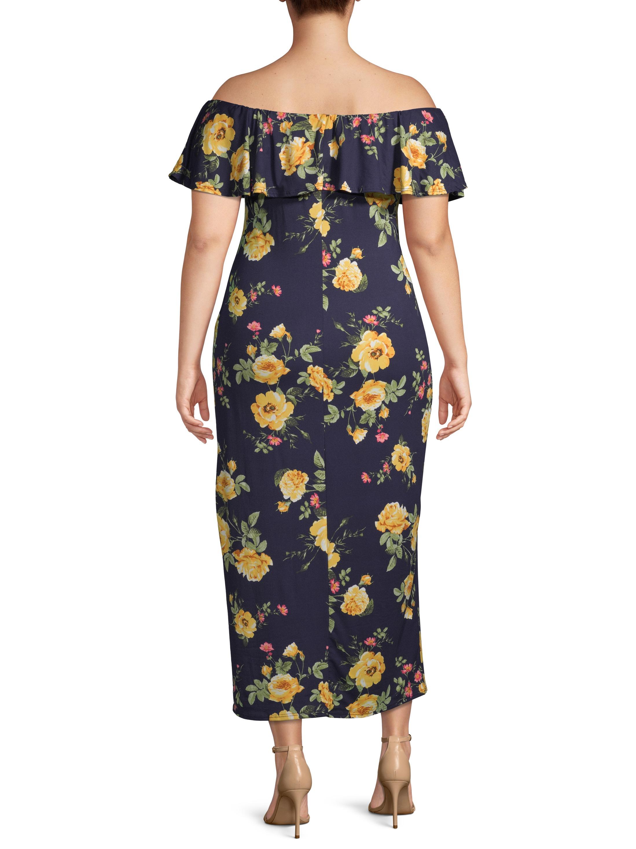 Urban Rose - Urban Rose Juniors\' Plus Size Off-Shoulder Maxi ...
