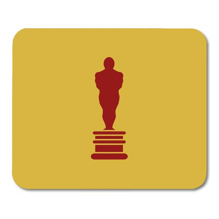 LADDKE Oscar Academy Award in Flat First Place Prize Man of the Year Reward Best Person Statue Mousepad Mouse Pad Mouse Mat 9x10
