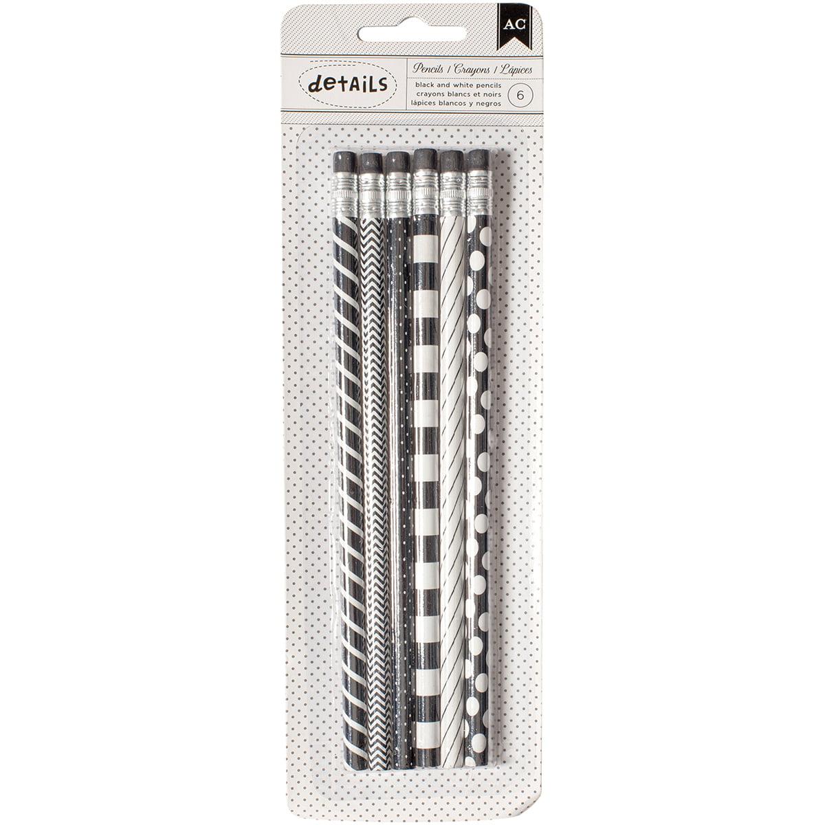 Designer Desktop Essentials Pencils 6/Pkg-Black & White