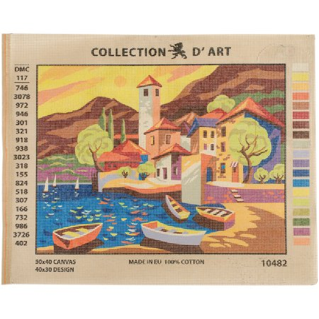 Collection D'Art Needlepoint Printed Tapestry Canvas, 40cm x 50cm, Port