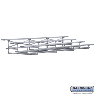 Salsbury Industries 4 Row Aluminum Portable Bleachers - 2...