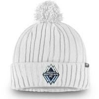 Vancouver Whitecaps FC Fanatics Branded Cuffed Knit With Pom Beanie - White - OSFA