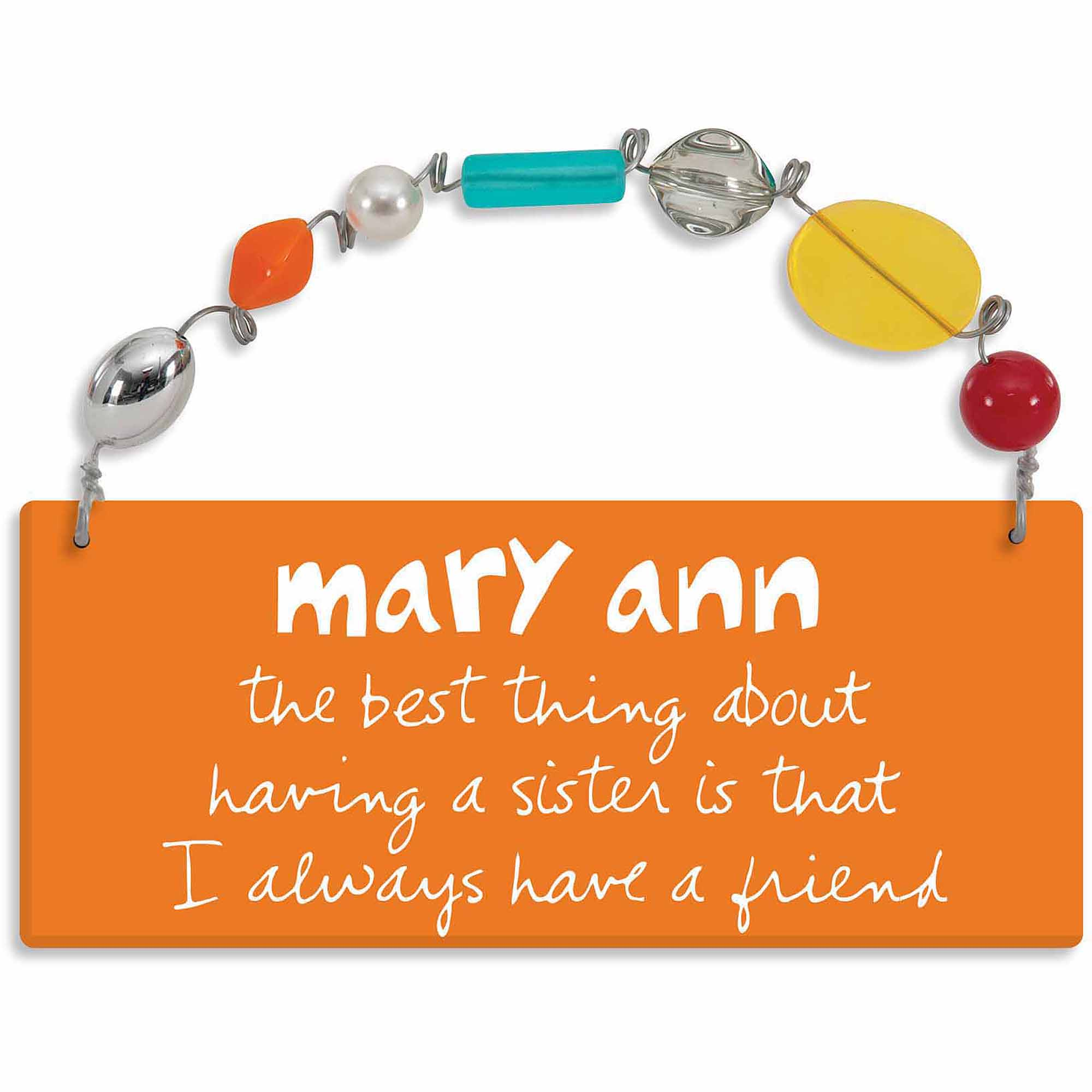 Personalized Sandra Magsamen Best Thing About A Sister Wall Plaque