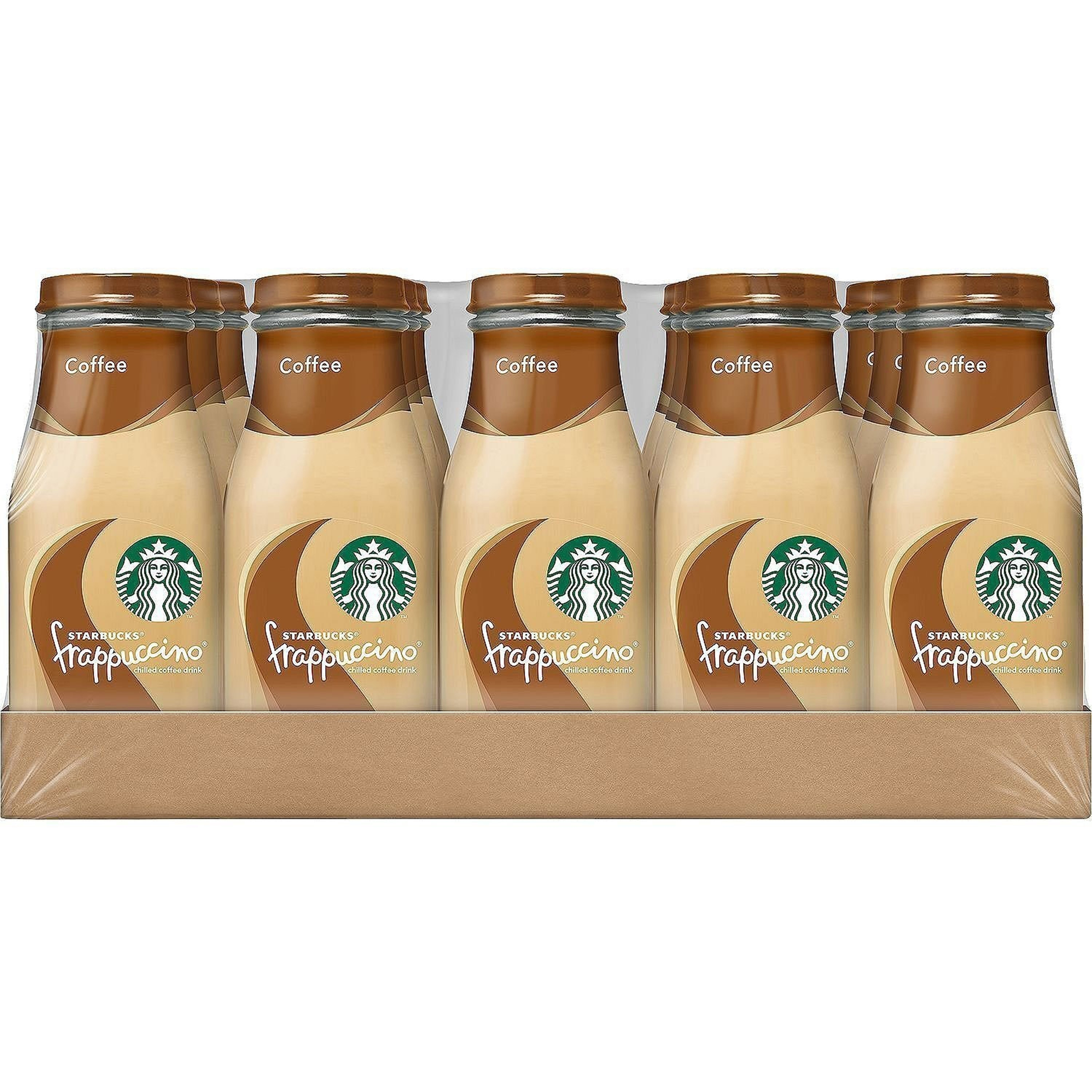 (15 Bottles) Starbucks Frappuccino Coffee with Caramel, 9.5 Fl Oz