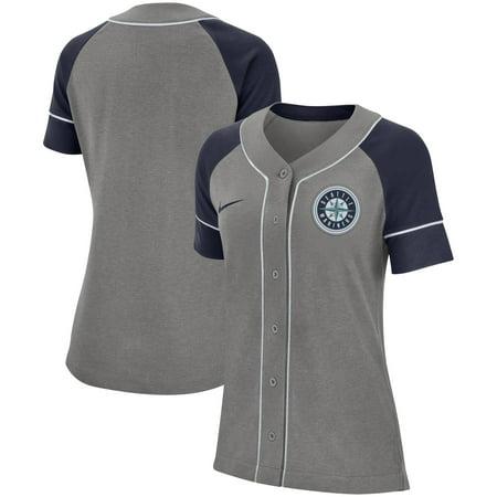 Seattle Mariners Nike Women's Classic Baseball Jersey - Gray 50 Baseball Adult Jersey