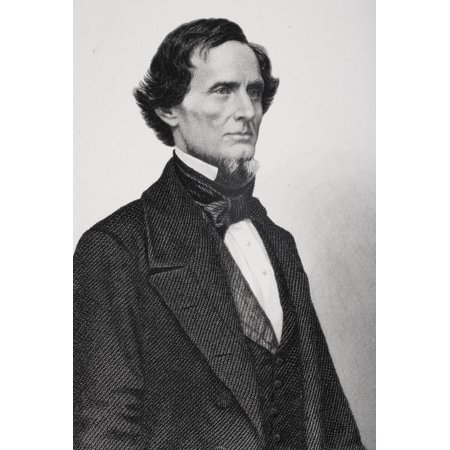 Posterazzi Jefferson Davis 1808 To 1889 President Of The Confederate States Of America During The American Civil War From Photograph By Matthew Brady Canvas Art - Ken Welsh Design Pics (22 x 34)