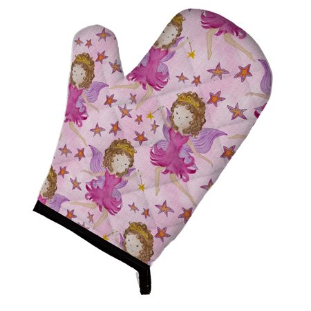 Caroline's Treasures Watercolor Fairy Princess on Pink Oven Mitt