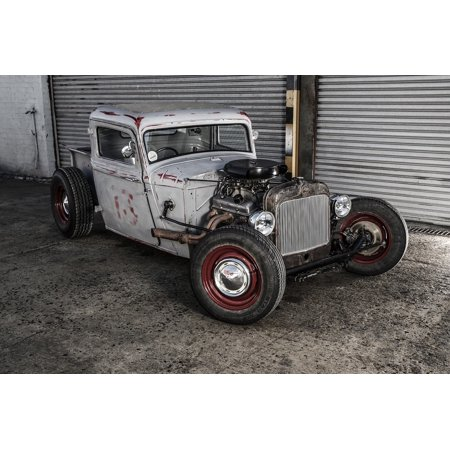 LAMINATED POSTER Rat Rod Vehicle Custom Fast Car Transport Hot Rod Poster Print 24 x