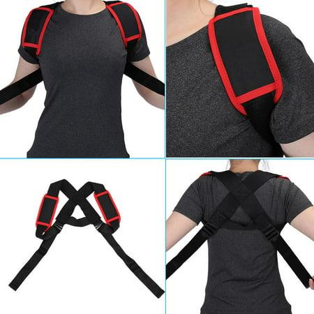 WALFRONT Élastique réglable posture support de correction du dos correction du support thoracique Bandoulière ceinture, correcteur de posture du dos, orthèse de maintien du dos - image 2 de 8
