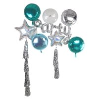 """""""PARTY"""" Word Shaped Foil Balloon Set, includes Streamers, 39.5in x 20in"""