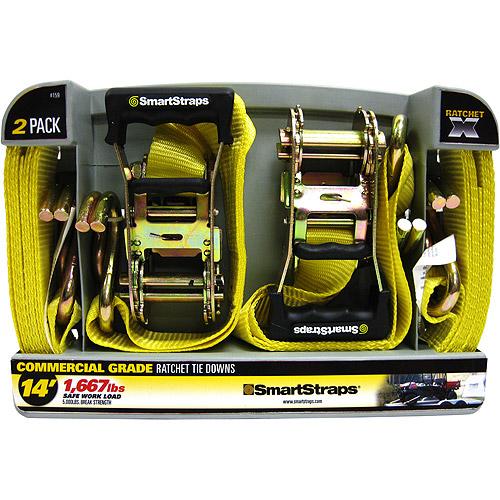 SmartStraps 14' 5000 lbs. RatchetX, Yellow 2 Pack