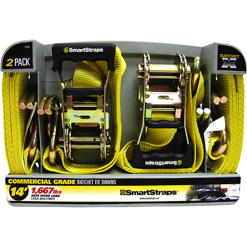 SmartStraps 14' 5000 lbs. RatchetX, Yellow 2 Pack