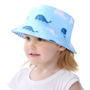 Kids Sun Hat Bucket Hat for Baby Toddler Double Side - UPF50+ Sun Protection Summer, Breathable, Age 1-6