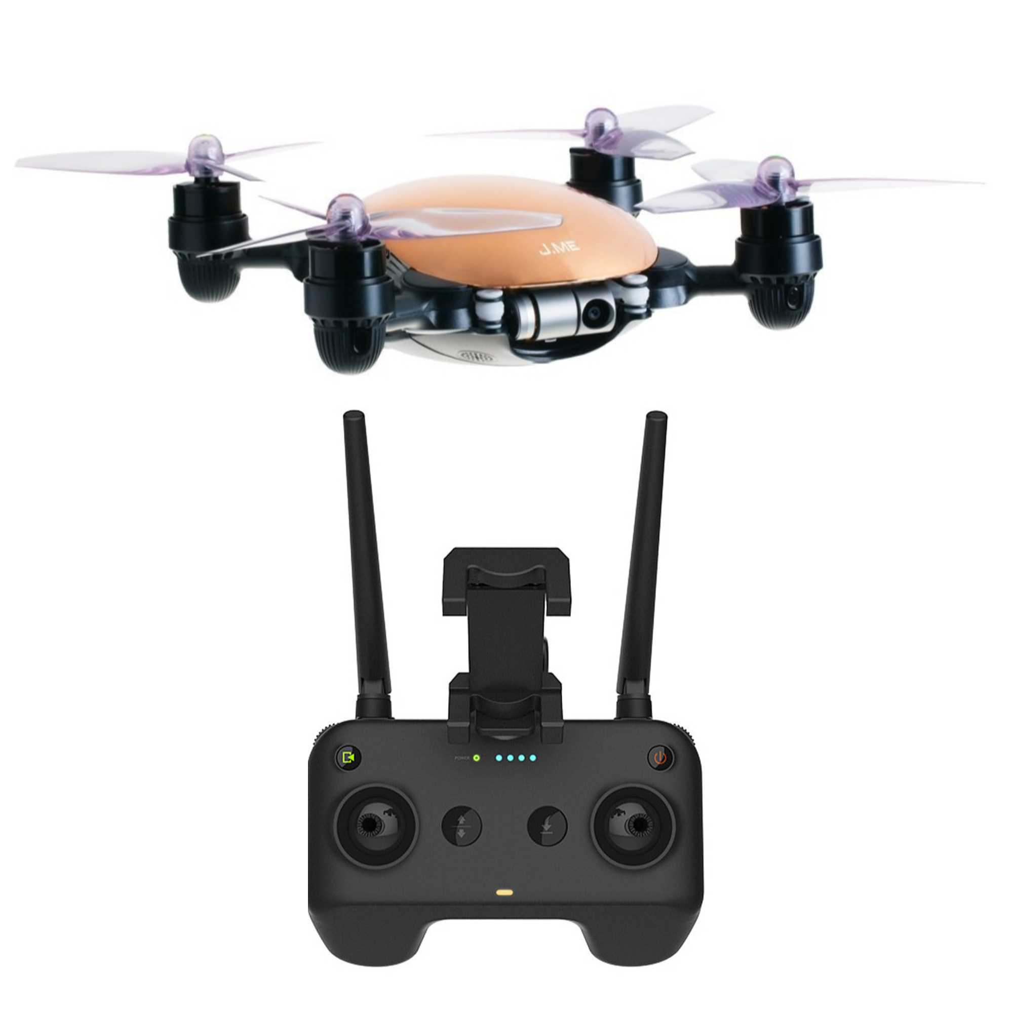 JME Drone with 4K Camera 2 Axis Gimbal (Gold) and Remote ...