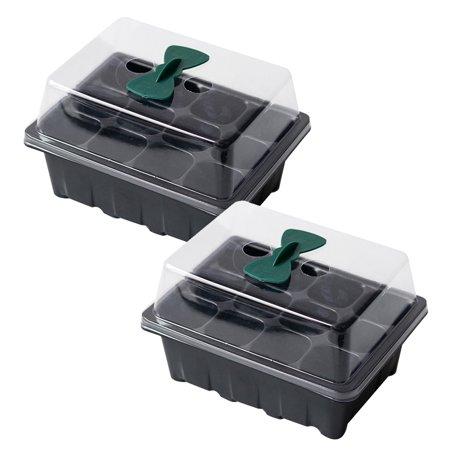 UHUSE 2 Set 12 Hole Seedling Tray Sowing Insulation Breeding Box With Ventilation Hole
