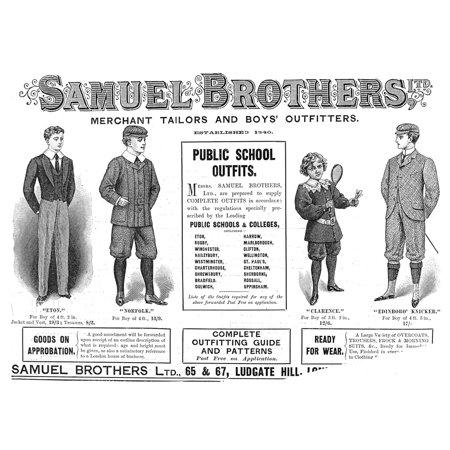 Boys Clothing 1898 Nenglish Magazine Advertisement 1898 Rolled Canvas Art -  (24 x 36) (Clothes Magazines)
