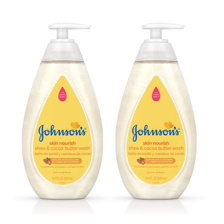 Nourishing Collection ((2 pack) Johnson's Skin Nourish Baby Wash With Shea & Cocoa Butter, 16.9 fl. oz )