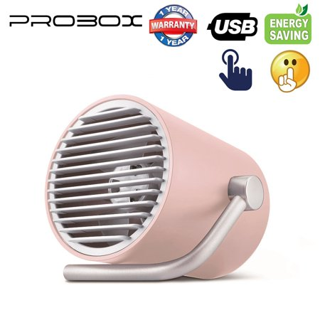 Mediasonic PROBOX USB Fan, Desk/Table Mini Fan, Portable, Home, Office, Outdoor Travel (Touch Control)