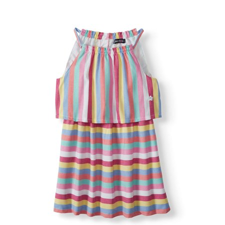 Rainbow Dash Dress (Striped Popover Dress (Toddler)