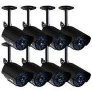 VideoSecu 8x IR Day Night Vision CCTV Security Camera Weatherproof 520TVL 36 IR Led for Home Surveillance DVR System BNW
