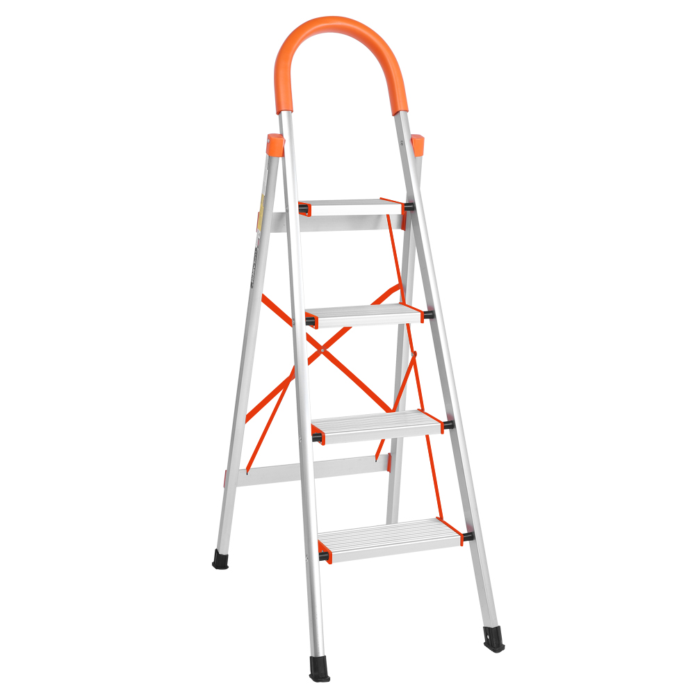 Aluminium Step Ladder 8 Tread Slip Resistant Safe Comfort Steps 150 kg Capacity Lightweight Portable Foldable Stepladder