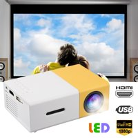 EEEkit Projector, Video Mini Portable Projector, 320*240 Native Resolution Display Portable LED Projector, Multimedia Home Theater Video Projector, Support HD 1080P HDMI/VGA/AV/USB/TV Box/PS