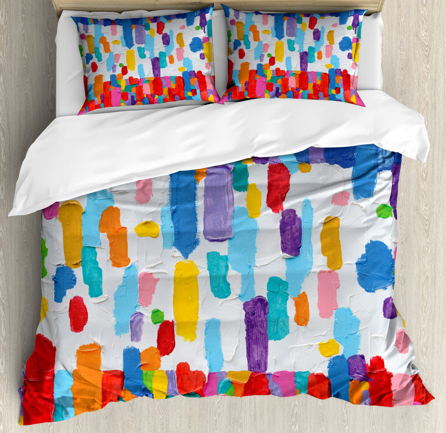 Abstract Paint Marks Pattern Luxurious Duvet Quilt Cover Pillowcase Bedding