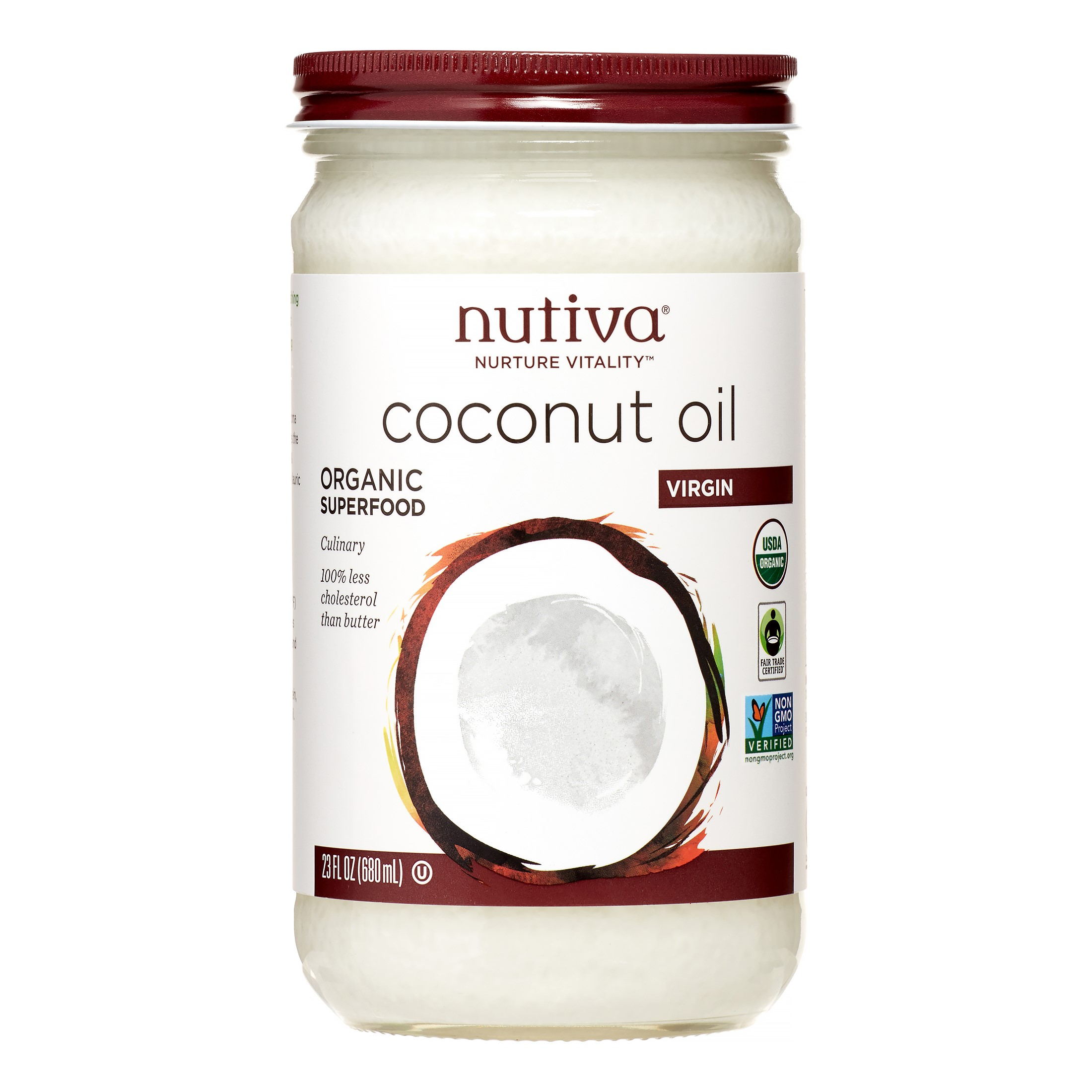 Nutiva Organic Virgin Coconut Oil, 23 Fl Oz