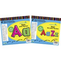 """Barker Creek Letter Pop-Out Set - 2"""" & 4"""" Neon - 931 Characters"""